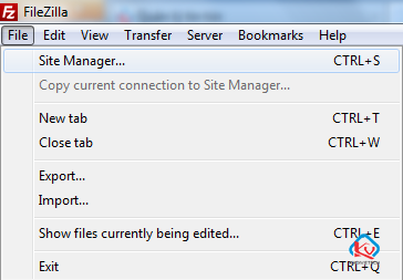 FileZilla-Client-Site-Manager